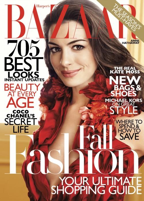 Anne Hathaway in Harper's Bazaar