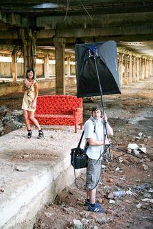 Exclusiv: making-of: sedinta foto Elena (ex Dj Project)