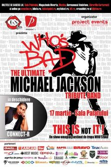 Concurs! Castiga bilete duble la concert tribut Michael Jackson by Who's Bad