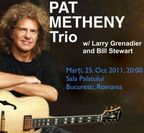 Pat Metheny Trio in concert la Sala Palatului