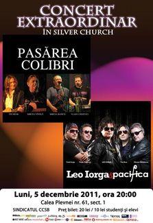 Concert Pasarea Colibri, Leo Iorga si Pacifica in TSC!
