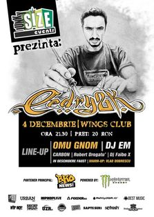 Concurs cu 2 invitatii: Concert Cedry2k in Wings Club!