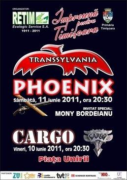 Concert Phoenix la Timisoara in Piata Unirii