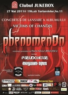 Concert PhenomenOn in Club Jukebox din Bucuresti