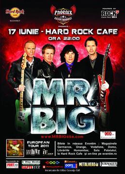 Primul concert Mr. Big in Romania la Hard Rock Cafe