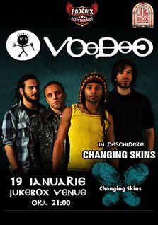 Concert Voodoo si Changing Skins in Jukebox Venue
