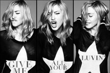 Madonna - coperta single Give Me All Your Luvin', detalii despre M.D.N.A