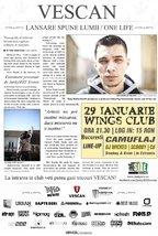 Concert: Vescan lanseaza Spune Lumii / One Life in Wings Club