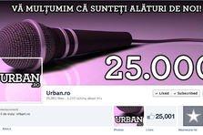 25.000 de oameni sunt preocupati cu Urban.ro pe Facebook!