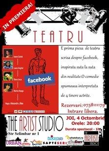 """Piesa de teatru """"Facebook"""" la The Artist Studio!"""