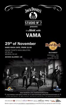 Concert Vama in Hard Rock Cafe din Bucuresti