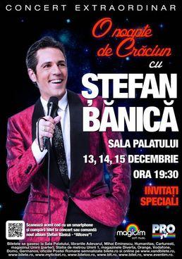Concert de Craciun cu Stefan Banica la Sala Palatului
