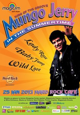 "MUNGO JERRY canta ""In The Summertime"" la Hard Rock Cafe Bucuresti!"