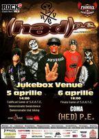 (HED) P.E. - concert in premiera la Bucuresti in Jukebox Venue!