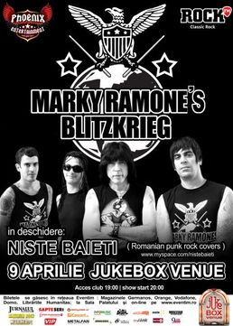 Marky Ramone's Blitzkrieg live in Jukebox Venue din Bucuresti