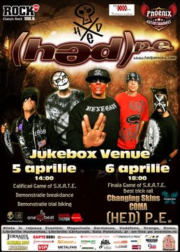 (HED) P.E. - concert in premiera la Bucuresti in Jukebox Venue!