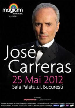 Concert José Carreras la Sala Palatului pe 25 mai 2012!