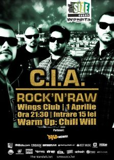Concert C.I.A in Wings Club Bucuresti! (concurs 2 invitatii)