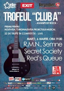 Trofeul Club A concerte live: R.M.N., Red's Queue, Secret Society, Semne
