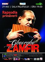 """Concert Gheorghe Zamfir - """"Rapsodia Primaverii"""" la Sala Palatului!"""