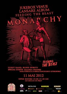 Concert Monarchy, lansare album Feeding The Beast in Jukebox