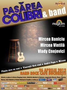 Pasarea Colibri in concert la Hard Rock Cafe din Bucuresti!