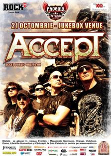 Concert ACCEPT la BUCURESTI in Jukebox Venue!