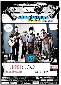 Concert Blue Nipple Boy in The Artist Studio