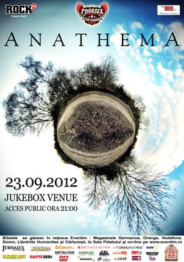 Concert ANATHEMA la BUCURESTI in Jukebox Venue!
