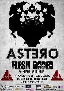 Concert ASTERO si FLESH RODEO in Logik Club
