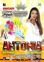 Antonia in concert la Princess Summer Club