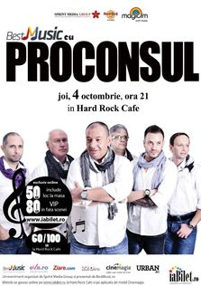 Concert Proconsul la Hard Rock Cafe din Bucuresti!