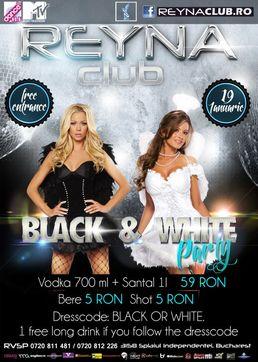 Black & White Party in REYNA CLUB!