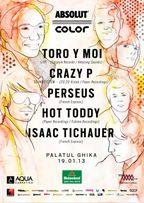 Concurs! Castiga o invitatie dubla la Absolut Color: Toro y Moi, Crazy P, Perseus @Palatul Ghika