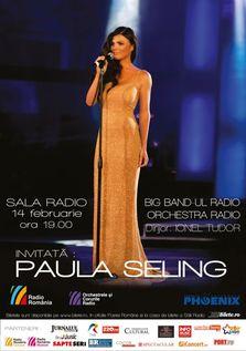 Paula Seling, concert de Ziua Indragostitilor la Sala Radio