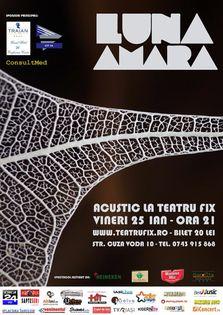Luna Amara concert acustic la Teatru Fix din Iasi