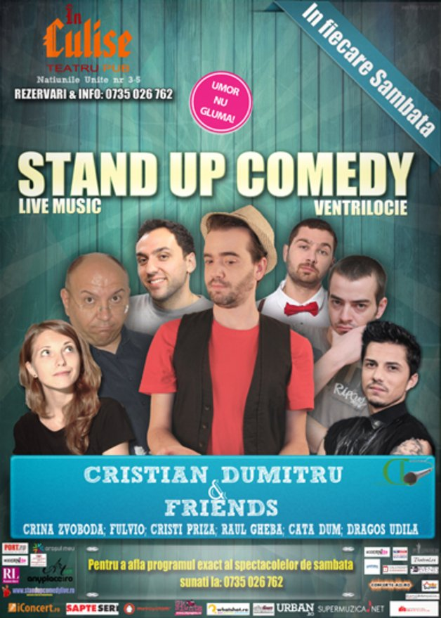 stand-up comedy sambata bucuresti 7 decembrie la in culise