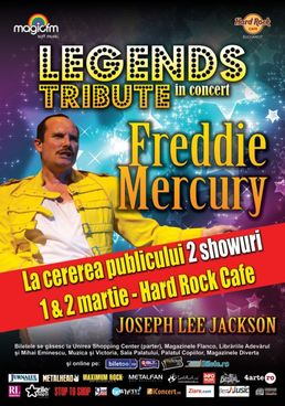 FREDDIE MERCURY - Legends Tribute - concert la Hard Rock Cafe