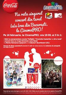 LaLa Band intr-un super concert de Ziua Indragostitilor la CinemaPRO