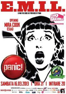 Concert E.M.I.L. si Mira Cook in Panic!