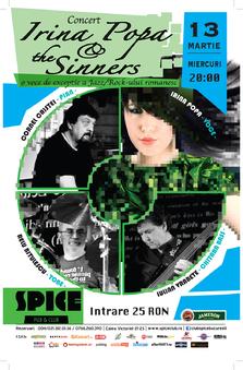 Concert Irina Popa & The Sinners in Club Spice
