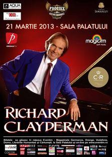 Concert Richard Clayderman la Sala Palatului!