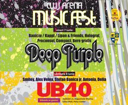 Deep Purple si UB 40 la Cluj Arena Music Fest