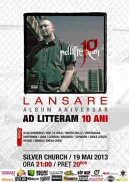 Lansare album Ad Litteram - 10 in The Silver Church!