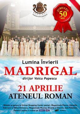 Corul MADRIGAL – concert jubiliar la Ateneul Roman (+ Turneu National)