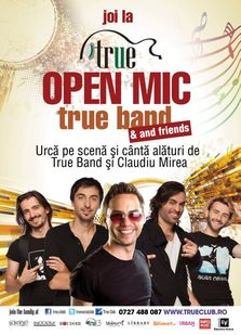 Open Mic cu True Band si Claudiu Mirea in True Club