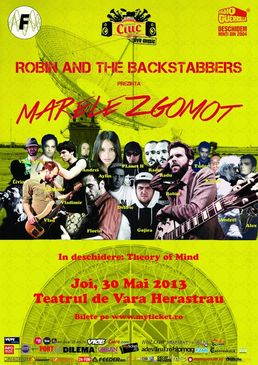 Concert Robin and The Backstabbers - Marele Zgomot @Herastrau