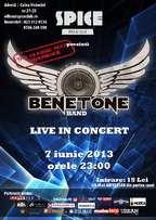 BENETONE Band – The Classic Rock Experience în Spice Club