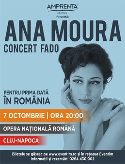 Concert Ana Moura la Opera Nationala Romana, Cluj-Napoca