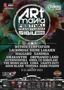 8 formatii autohtone concerteaza la ARTmania Festival Sibiu 2013